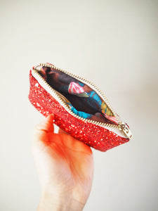 Red Glitter Coin Purse