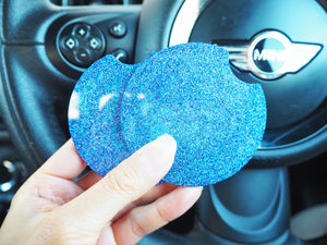 Persian Blue Glitter Cup Holder Inserts-7.3cm