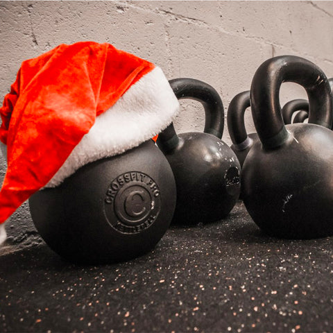 Christmas dumbel tips staying fit