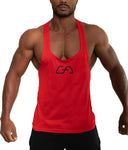 GA men red stringer tank top t-back gym bodybuilding fitness bodybuilder streetwear Cyprus tanktop Gym Aesthetics gold gym clothes κόκκινη αντρική φανέλα γυμναστηρίου αθλητικά ρούχα Κύπρος