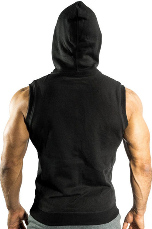 men black sleeveless hoodie gym bodybuilding fitness bodybuilder streetwear Cyprus tanktop Fitness Never Give Up Gym Aesthetics gym clothes μαύρη αντρική φανέλα γυμναστηρίου αθλητικά ρούχα Κύπρος αθλητικό αμάνικο φούτερ