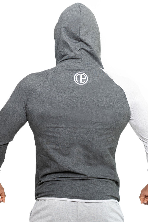 grey zipper NE hoodie footer gym clothes bodybuilding bodybuilder fitness streetwear Cyprus fitness clothing gym aesthetics sportswear γκρι φόρμα γυμναστηρίου αθλητικά ρούχα αντρικό αθλητικό φούτερ Κύπρος
