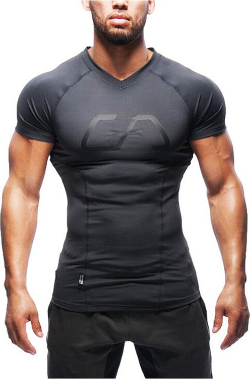GA men black tshirt t-shirt gym aesthetics Cyprus bodybuilding fitness bodybuilding streetwear Cyprus gym clothes μαύρη αντρική φανέλα γυμναστηρίου αθλητικά ρούχα Κύπρος