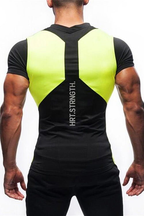 GA men black yellow motivation charged tshirt t-shirt gym aesthetics Cyprus bodybuilding fitness bodybuilder streetwear Cyprus gym clothes μαύρη κίτρινη αντρική φανέλα γυμναστηρίου αθλητικά ρούχα Κύπρος