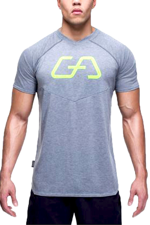 GA Tee gym aesthetics fitness men grey tshirt t-shirt Cyprus bodybuilding bodybuilder streetwear sportswear sports athlete gym clothes αντρική φανέλα γυμναστηρίου αθλητικά ρούχα Κύπρος