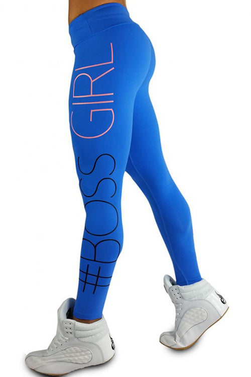 blue boss girl leggings κολάν gym clothes cyprus sports αθλητικά ρούχα Κύπρος