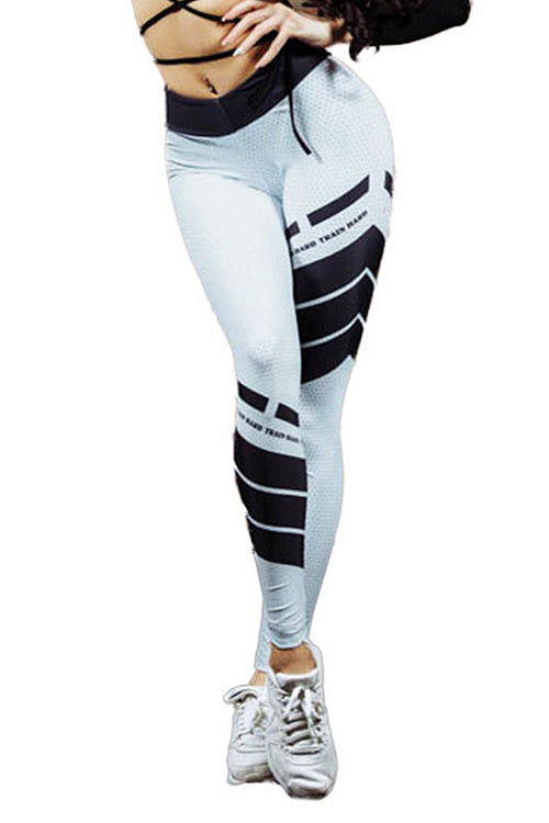 black white train hard leggings Cyprus sportswear gymclothes μαύρο άσπρο κολάν gym clothes cyprus sports αθλητικά ρούχα Κύπρος