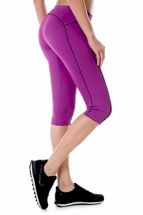 purple leggings push up work-out fitness spandex polyester calf length κολάν gym clothes cyprus sports sportswear αθλητικά ρούχα κύπρος γυμναστήριο μωβ λιλά 3/4 capri