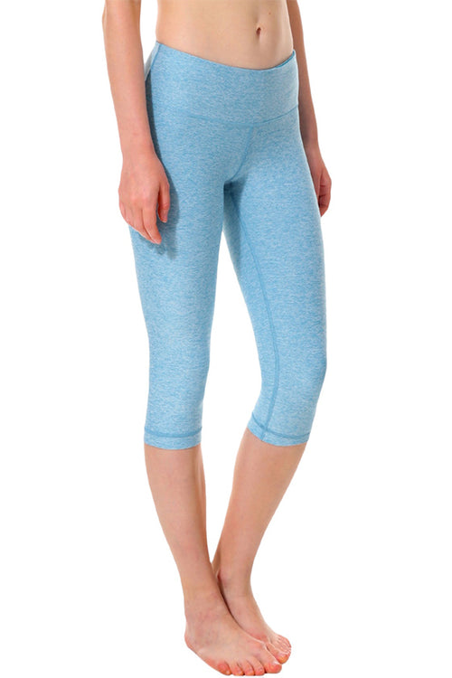 blue 3/4 calf length leggings push up work-out fitness spandex polyester κολάν gym clothes cyprus sports sportswear αθλητικά ρούχα κύπρος γυμναστήριο μπλε capri