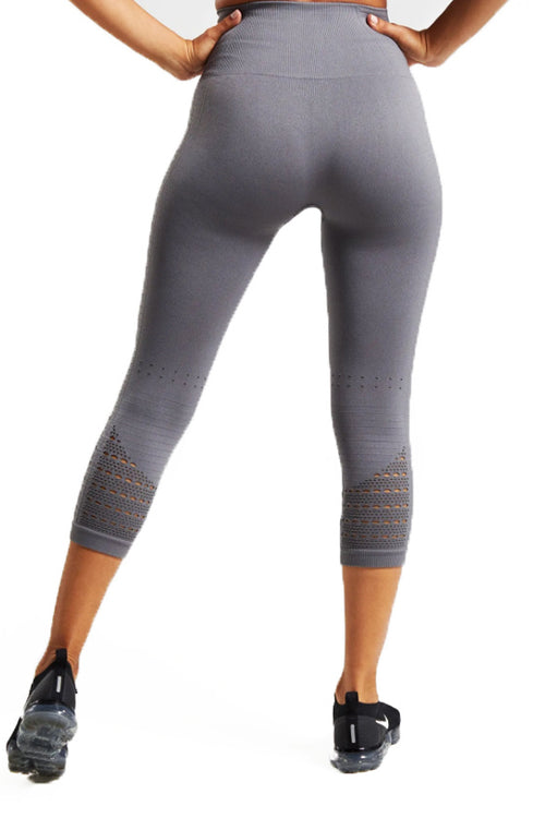 energy+ seamless cropped capri grey gymshark leggings Cyprus fitness αθλητικό γυναικείο κολάν gym clothes gymwear sports αθλητικά ρούχα Κύπρος
