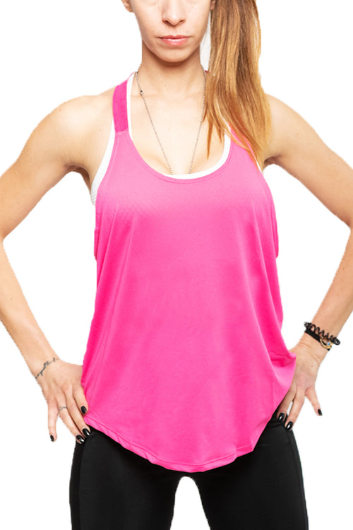 pink stringer top gym tanktop women Cyprus fitness sports clothes ροζ αθλητική φανέλα Κύπρος αθλητικά ρούχα γυμναστηρίου energy
