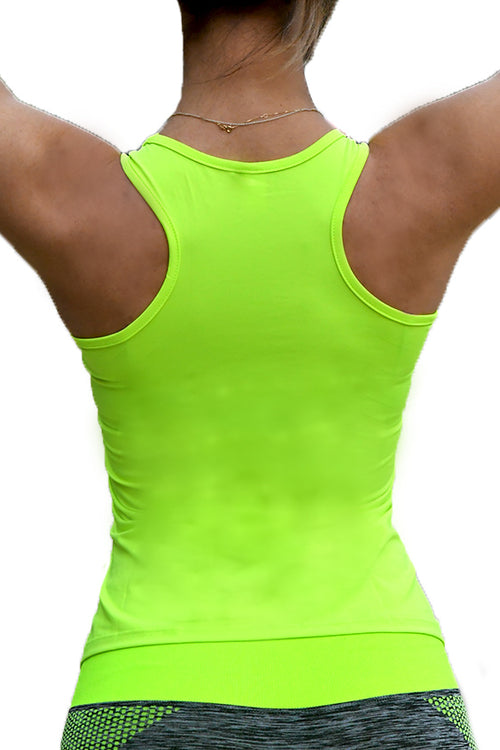 yellow lime top gym tanktop women Cyprus fitness sports clothes αθλητική φανέλα αθλητικά ρούχα γυμναστηρίου Κύπρος