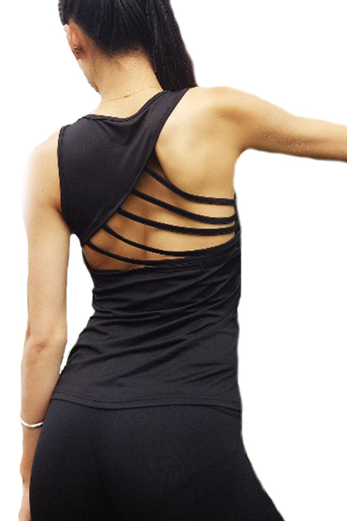backless bare back black women gym top tanktop Cyprus fitness sports clothes μαύρη γυναικεία αθλητική φανέλα αθλητικά ρούχα γυμναστηρίου Κύπρος