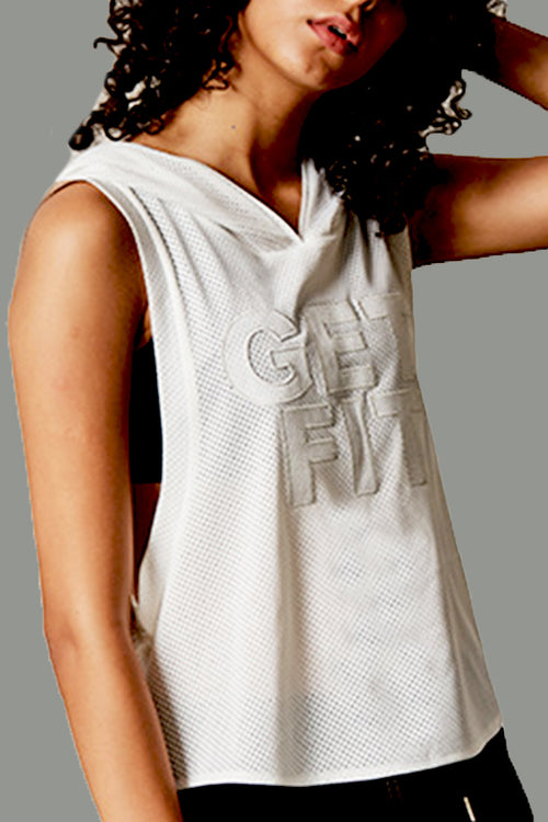 white get fit jersey top gym tanktop women Cyprus fitness sports clothes sportswear άσπρη αθλητική φανέλα γυναικεία αθλητικά ρούχα γυμναστηρίου Κύπρος