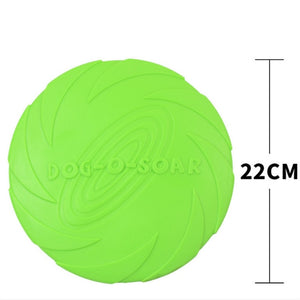 Rubber Fetch Flying Disc Frisby 15cm 18cm 22cm - Tailored fits