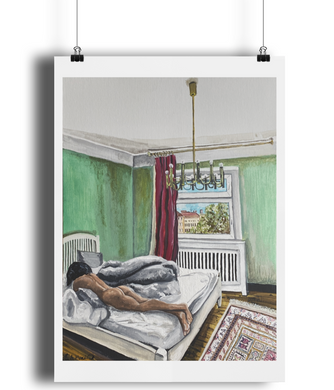 'Berlin Bedroom' Art Print