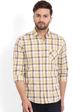 Load image into Gallery viewer, Richlook Yellow/Mustard Checked Casual Shirt