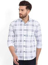 Load image into Gallery viewer, Richlook White/Tapesty Blue Printed Casual Shirt