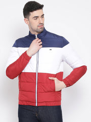 Red White Blue Regular Fit Jacket