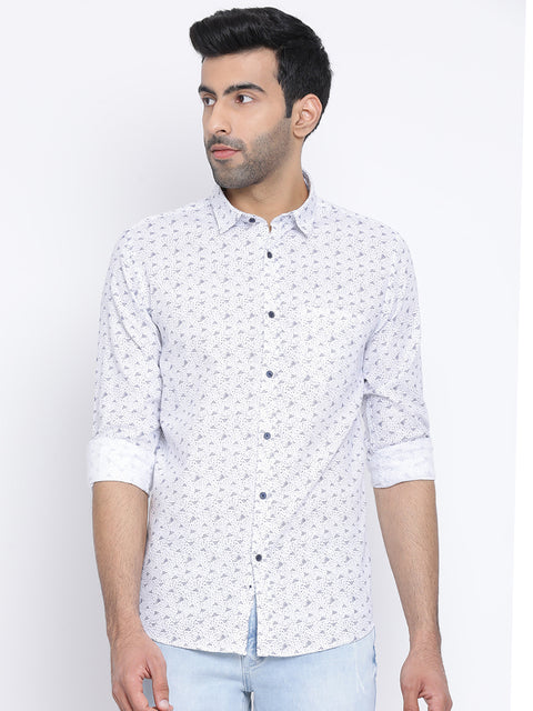 White Slim Fit Casual Shirt