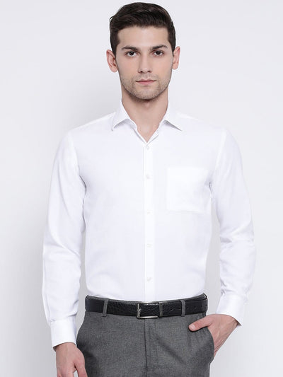 White Regular Fit Formal Shirt