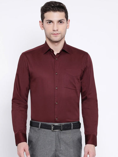 Maroon Regular Fit Club Wear Shirt