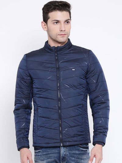 Navy Blue Casual Jacket