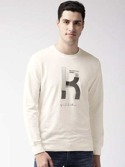 Richlook Rust Solid Sweat Shirt