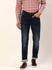 Blue Casual Classic Fit Jeans