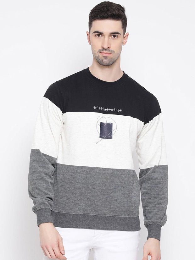 Black white Grey Sweatshirt