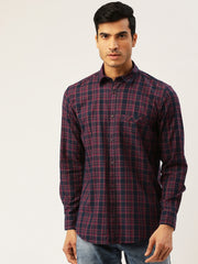 Black Green Slim Fit Casual Shirt