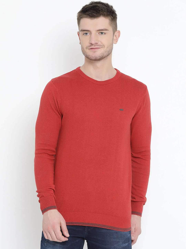 Red Milange Sweater