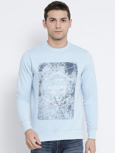 Sky Round Neck Sweatshirt