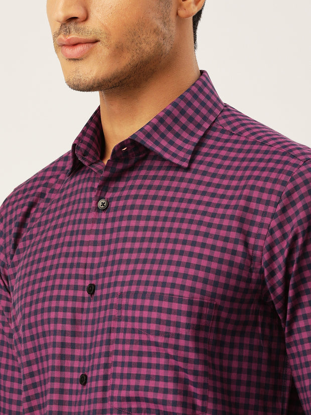 Red & Blue Formal Shirt