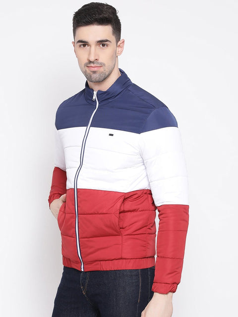 Richlook Red White Blue Regular Fit Jacket