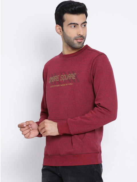 Round Neck Red Navy Jaspee Sweatshirt