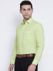 Green Formal Shirt side view