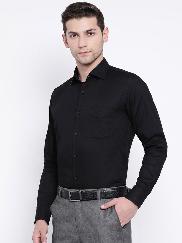 Black Formal Shirt side view