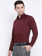Maroon Regular Fit Club Wear Shirt side view