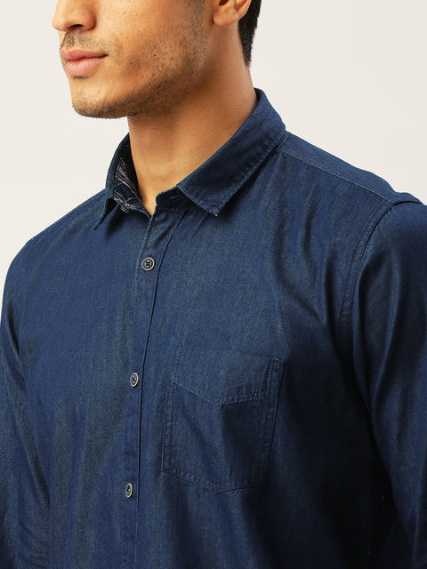 Blue Slim Fit Casual Shirt