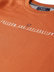 Rust Solid Sweatshirt close view