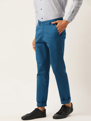 Blue Casual Slim Fit Trouser