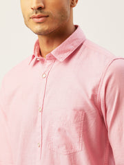 Pink Slim Fit Casual Shirt