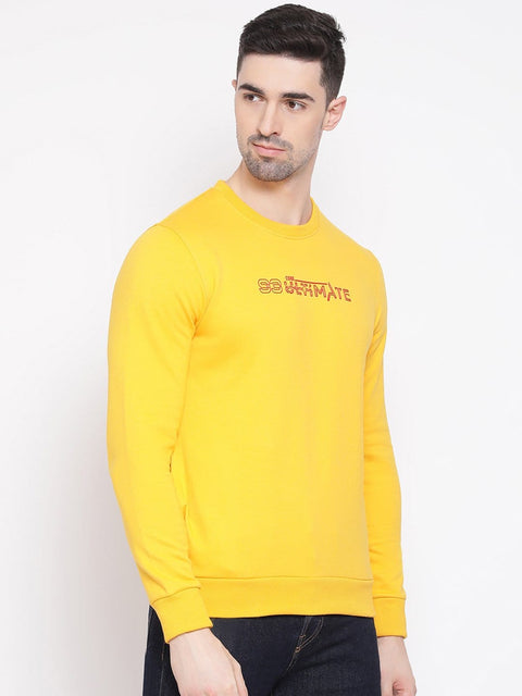 Mustard Sweatshirt side view