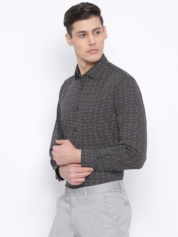 Black Slim Fit Clubwear Shirt