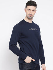 Navy Blue Sweatshirt side view