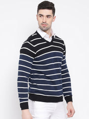 Black & White Stripped Sweater for men