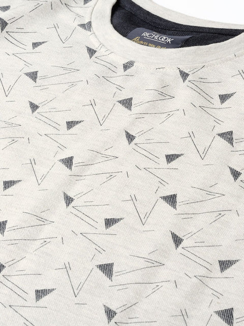 Grey Printed Sweatshirt close view