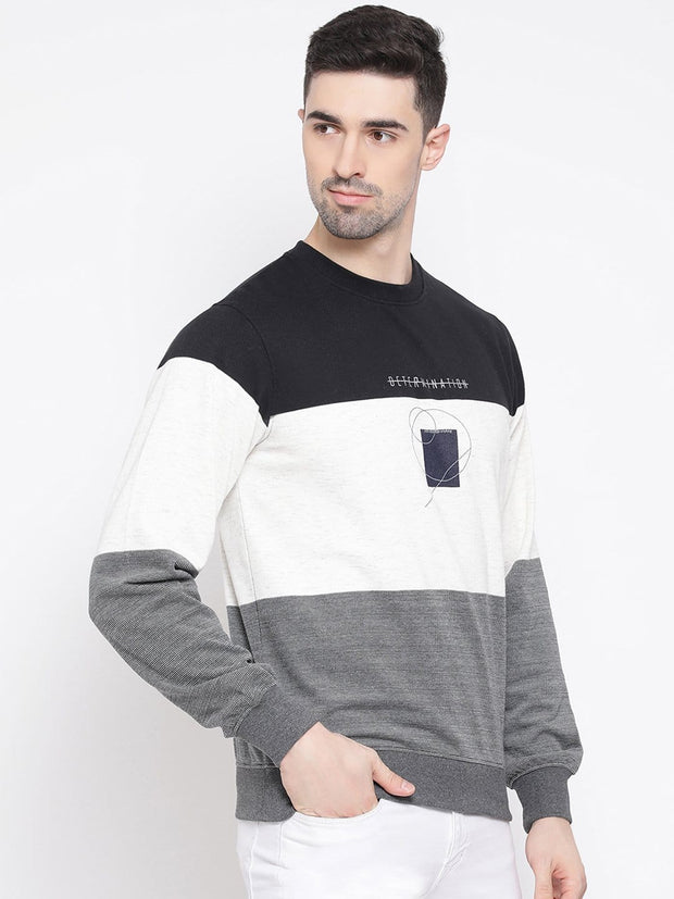 Black white Grey Sweatshirt side view