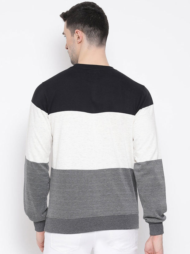 Black white Grey Sweatshirt black view